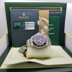 Rolex 116660 Deep Sea Dweller – Black Dial with solid links and Black Ceramic Bezel 44mm