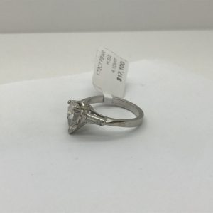Spectacular Platinum and Pear Shaped Diamond Ring