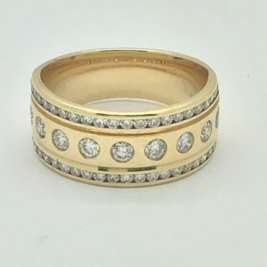 14k Gold Diamond Encrusted Band
