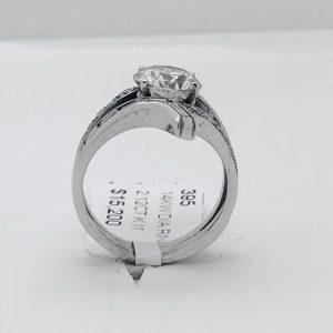14k White Gold Custom Diamond Ring