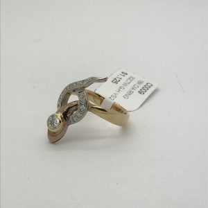 Diamond snake ring in 18k