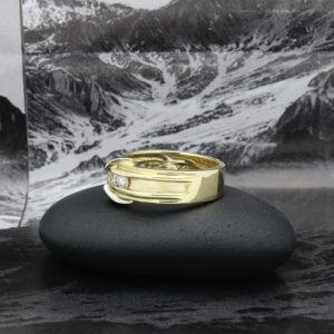 14k two tone diamond band