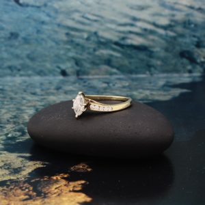 14K Marquise engagement ring
