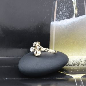 Organic design diamond ring in 14k with .60ctw