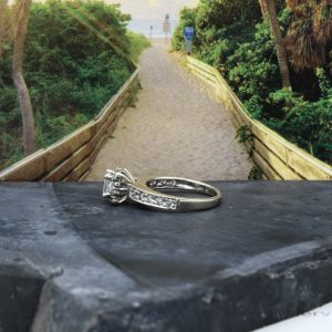 .50ct Princess cut engagement ring