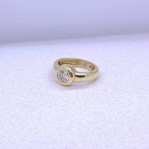 18K Bezel Set Diamond