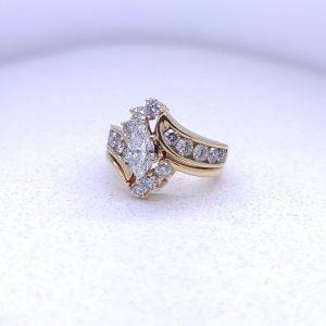 2.45CTW Diamond engagement ring