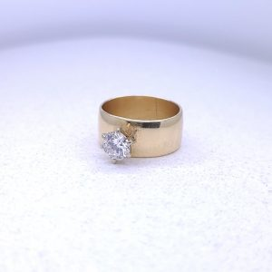 Ladies Diamond wide band with a .75ct
