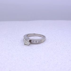 14K white gold engagement ring .92ctw
